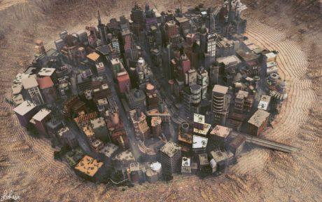 Δείτε αυτήν την πόλη που φτιάξανε κάποιοι τρελοί στο Minecraft, όχι δείτε την