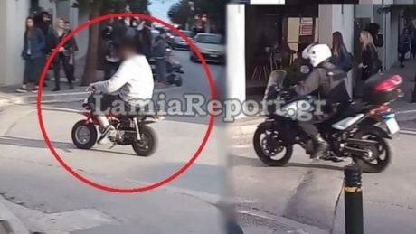 Ghost Rider Λαμία: Κάγκουρας με μπόμπο ξεφτιλίζει την Τροχαία της πόλης