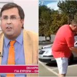 Ναι, ο Κωστής Αϊβαλιώτης φαίνεται να τιμωρεί οδηγό από την ΠΓΔΜ με μια τσίχλα