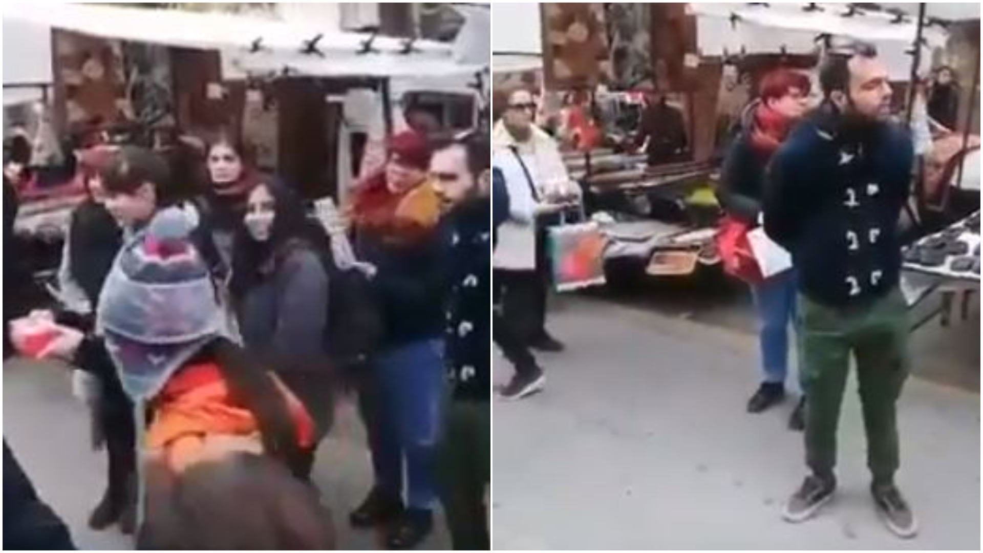 Έρχονται οι κομμουνιστές και μας παίρνουν τα κάλαντα – Θείτσα την πέφτει σε μέλη της ΚΝΕ σε λαϊκή (VIDEO)
