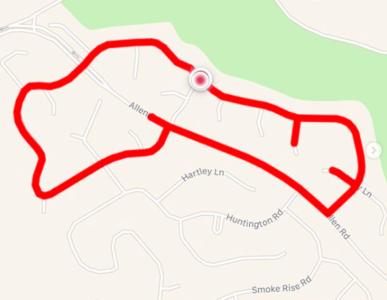 33χρονη Αμερικανίδα φτιάχνει τρέχοντας διαδρομές σε σχήμα πούτσας, τις ανεβάζει στο Instagram