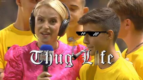 Thug Life από μικρό Αρειανό σε ρεπόρτερ