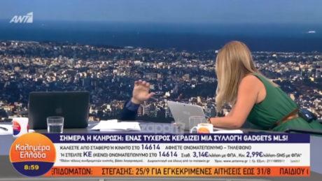 Ο Παπαδάκης τρώει επική τούμπα live στον ΑΝΤ1